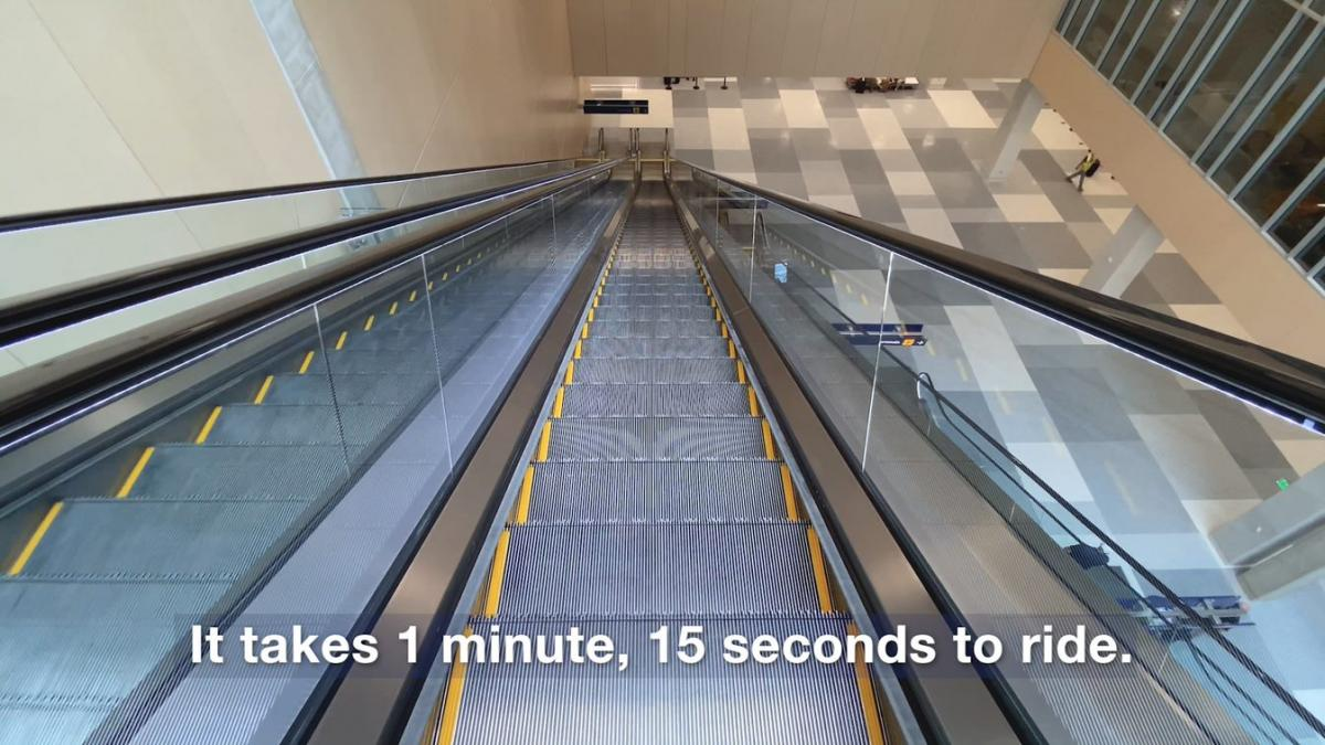 Minnesota's tallest escalator