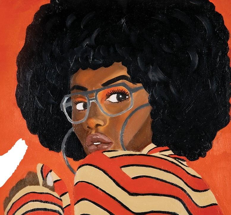 Painting of an African-American woman